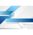 Bright tech corporate blue and white background vector