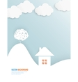 Cloud and tree abstract web vector