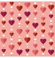 Seamless pattern with flat hearts vector