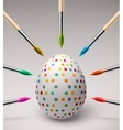 Coloring easter eggs vector