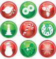 Christmas icon buttons vector