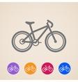Bike icons vector