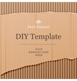 Diy template with cardboard texture background vector