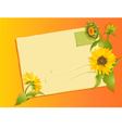 Summer letter with sunflowers vector