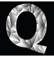 Crystal letter q vector