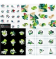 Infographic geometric layouts vector