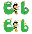 Letter b bee vector