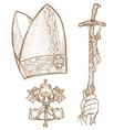 Vatican symbols vector