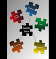 Puzzle teamwork vector