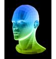 Human head abstract vector