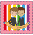 Male gay marriage vector