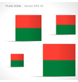 Madagascar flag template vector