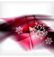 Pueple christmas blurred waves and snowflakes vector