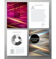 Corporate design template vector