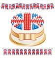 Union jack cake vector