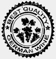 Stamp for german wine vector