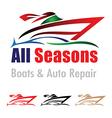 Boat and car repair logo vector