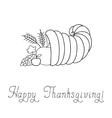 Thanksgiving day cornucopia vector