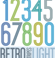 Poster retro light colorful numbers with stripes vector
