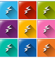 Battery charging icons vector