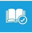Selected book symbol vector