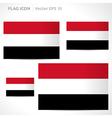 Yemen flag template vector
