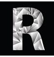 Crystal letter r vector
