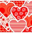 Valentine heart pattern vector
