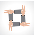 Creative victory hand icon vector
