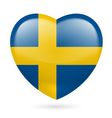 Heart icon of sweden vector