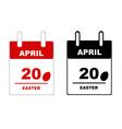 Easter calendar vector