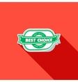 Best choice label  flat vector