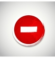 Old red stop road sign vector