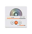 Music player 45 vector