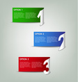 Modern color paper progress option background vector