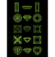 Collection of different shapes of a gemstone vector