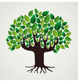 Nature care concept leaves tree vector