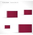Qatar flag template vector