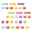 Shiny glowing buttons and icons vector