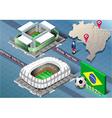 Isometric stadium of cuiaba and fortaleza brazil vector