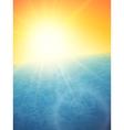 Sunset at sea horizon with summer sun vector