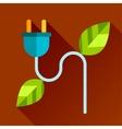 Go eco green flat icon vector
