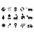 Black eco icon vector