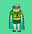 Young super hero boy cartoon and character vector
