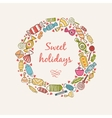 Frame with sweets and candy vector