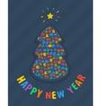 New year tree card vector