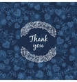 Thank you card with love vector