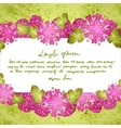Flower background with doodle heart vector