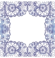 Lacy elegant frame invitation card vector
