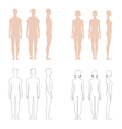 Human figure collection vector